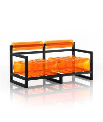 Canapé Yoko cadre bois noir